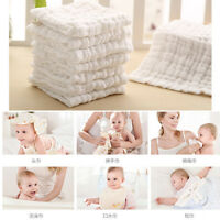 6layer Cotton Baby Infant Washcloth Towel Newborn Bath Feeding Wipe Cloth Gauze