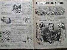 LE MONDE ILLUSTRE 1862 N 285 - S. EXC. LE MARECHAL DE CASTELLANE ,décédé à LYON