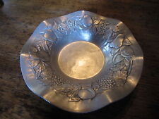 Vintage Hand Forged EVERLAST METAL Aluminum Stamped Bowl #1013! Tray Dish Fruit