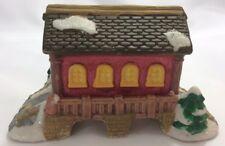 *Cobblestone Corner Covered Bridge Red Windham Heights Christmas Village House