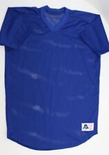 M New Sports Belle Practice Training Gym Track Football Royal Blue Mesh Jersey