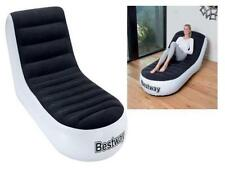 BESTWAY STABLE CHAISE INFLATABLE SPORTS CAMPING LOUNGER RELAXING CHAIR SEAT SOFA