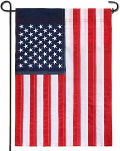 """Garden Yard Flag Pole Holder Stand Metal Wrought Iron Stake For 12""""x18"""" Flag"""