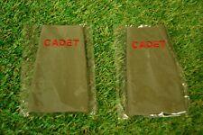 100 x New Genuine British Army Cadet Rank Slide in Olive Green