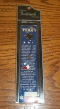 Red/White/Blue w/Star Stainless Steel Flask w/Box & Texas Metal Bookmark    L@@K