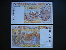 WEST AFRICAN STATES (IVORY COAST)  1000 Francs 1999  (P111Ai)  UNC