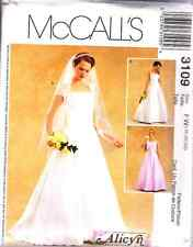 """McCall's 3109 OOP """"Alicyn Exclusives"""" Bridal Gowns Pattern Sizes 18-20-22"""
