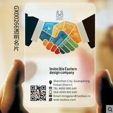 200 Transparent Plastic Business Card free design sandblast PVC Frosted Print