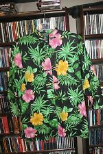 Ralph Lauren Tropical Floral Linen Long Blouse Shirt Asian Closure PS S   (bin82