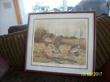 "John A. Ruthven ""Bobwhite Quail"" Lithography Limited Edition Signed Print 78/100"