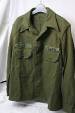 VINTAGE US ARMY TWO POCKET WOOL SHIRT OG-108 SIZE: Med-Lg. KOREA WAR