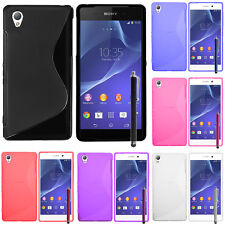 Protective Case for Sony Xperia Z3/Z3 Dual D6603 TPU Silicone Case Cover Shell