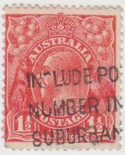 (JQ-471) 1934 GB 1d RED KGV (official joiner on back)