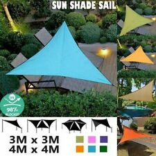 Sun Shade Sail Outdoor Top Canopy Patio Triangle  Square Waterproof For 3 Sizes