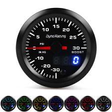 """2"""" 52mm Digital & Pointer 7 Color LED Car Turbo Boost Meter Psi Pressure Gauge"""