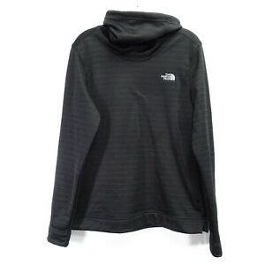 The North Face Womens Black Turtle Neck Stretch Fleece Pull Over Active Jacket M