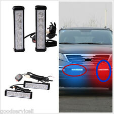 2Pcs Grille Warning Emergency Beacon Strobe Flash LED Light Lamp Bar Universal