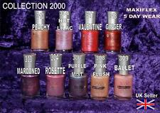 2 X Collection 2000 MaxiFlex Nail Varnish Ginger 318 Pearl Polish 5 Day Wear