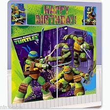 Teenage Mutant Ninja Turtles Birthday Party Mural Scene Setter Decorating Kit 6'