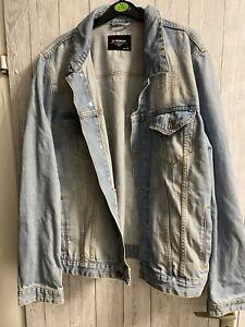 BEHYPE Jeansjacke Destroyed Denim-Shirt Vintage Jeans-Hemd Jacke Hellblau