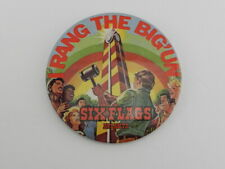 Vintage 1986 Rang the Big'Un Six Flags Atlanta  Button Pin Souvenir