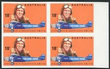 1978 (SG.660a) 18c Kingsford Smith, IMPERFORATE marginal block of 4 full gum