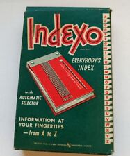 INDEXO, EVERYBODY'S INDEX w/AUTOMATIC SELECTOR Gold NIB Old Stock