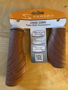 Serfas Ergo Twist Shift Connector Grips Brown 7 Speed 3 Speed