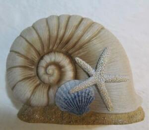 Coastal Bathroom Seashells Toothbrush Holder SERENE SHELLS Bath Line Sea Shell