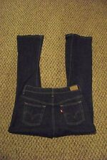 womens levis 515 boot cut dark wash denim jeans size 4 m 27 x 31