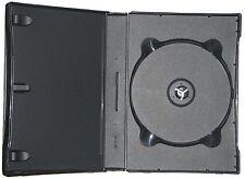 10 X nuovo in plastica nera trasportare stoccaggio caso di spedizione per fino a 6 CD DVD