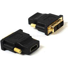 HDMI femmina a maschio Adattatore DVI convertitore F / M PER MONITOR PC-PLACCATO ORO