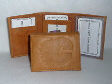 CALGARY FLAMES  Leather TriFold Wallet   NEW  tan z
