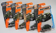 '16 FIAT 500X * LOT OF 4 * 2017 MATCHBOX * FOREST GREEN FIRST EDITION 2016