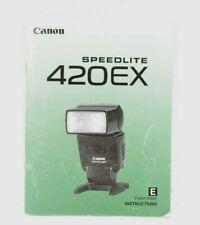 Canon Speedlite 420EX Instruction Manual User Guide English GC (451)