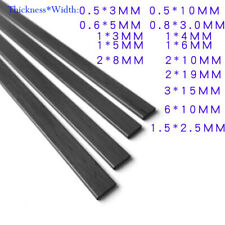 2Pcs 50cm Long Black Carbon Fiber Strip Square Plate Sheet Flat Bar Rod 0.3-3mm