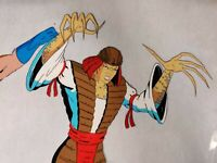 90s X-MEN LADY DEATHSTRIKE ANIMATION CEL with COA