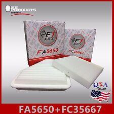 FA5650 FC35667 CA10169 CF10285 ENGINE & CABIN AIR FILTER ~ 2009-16 VENZA V6 3.5L