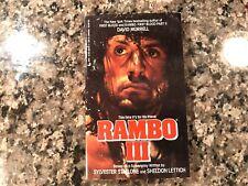 Rambo III Movie Tie-In Paperback Book! 1988 Jove Edition.