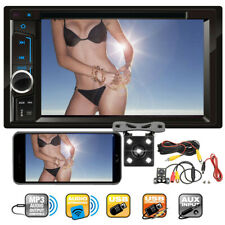 Sony Lens Double Din Car Stereo Radio DVD Player TV USB Mirror For GPS + Camera