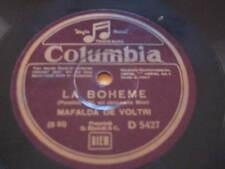 """10"""" 78 RPM vinyl MAFALDA DE VOLTRI LA BOHEME ( PUCCINI )  COLUMBIA ITALY"""