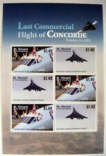 2006 MNH ST VINCENT CONCORDE STAMP SHEET AIRPLANE STAMPS AVIATION LAST FLIGHT