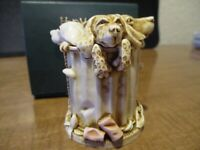 Harmony Kingdom Nic Nac Paddy Whack Dogs UK Made Marble Resin Box Figurine