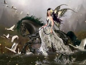Jigsaw Puzzle Fantasy Portarit Lamentation of Swans 750 pieces NEW Made in USA