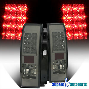For 2005-2010 Hummer H3 LED Tail Lights Brake Lamps Smoke Replacement