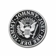 """Nice 4 1/2"""" Ramones Presidential Seal Embroidered Patch - Wax Backing, Merrowed"""