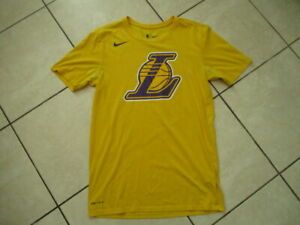 Designer NBA Dri Fit  cotton/polyester Los Angeles Lakers ,T shirt size S,yellow