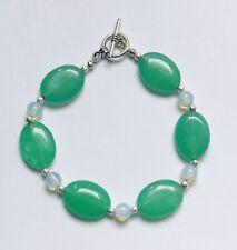 Stunning Jade & Moonstone Bracelet
