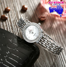 Silver Women's Automatic Watch with Metal Strap