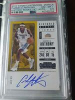 Carmelo Anthony 2017 Panini Contenders Rookie Ticket ON CARD AUTO /49. PSA 8.5